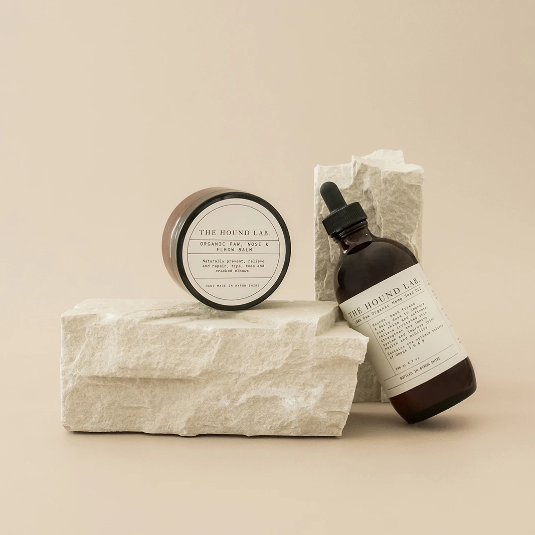 A range of natural dog care products