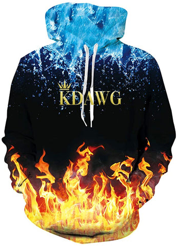 Adult KDawg Fire and Ice Hoodie