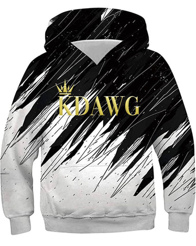 Black and White KDawg Hoodie