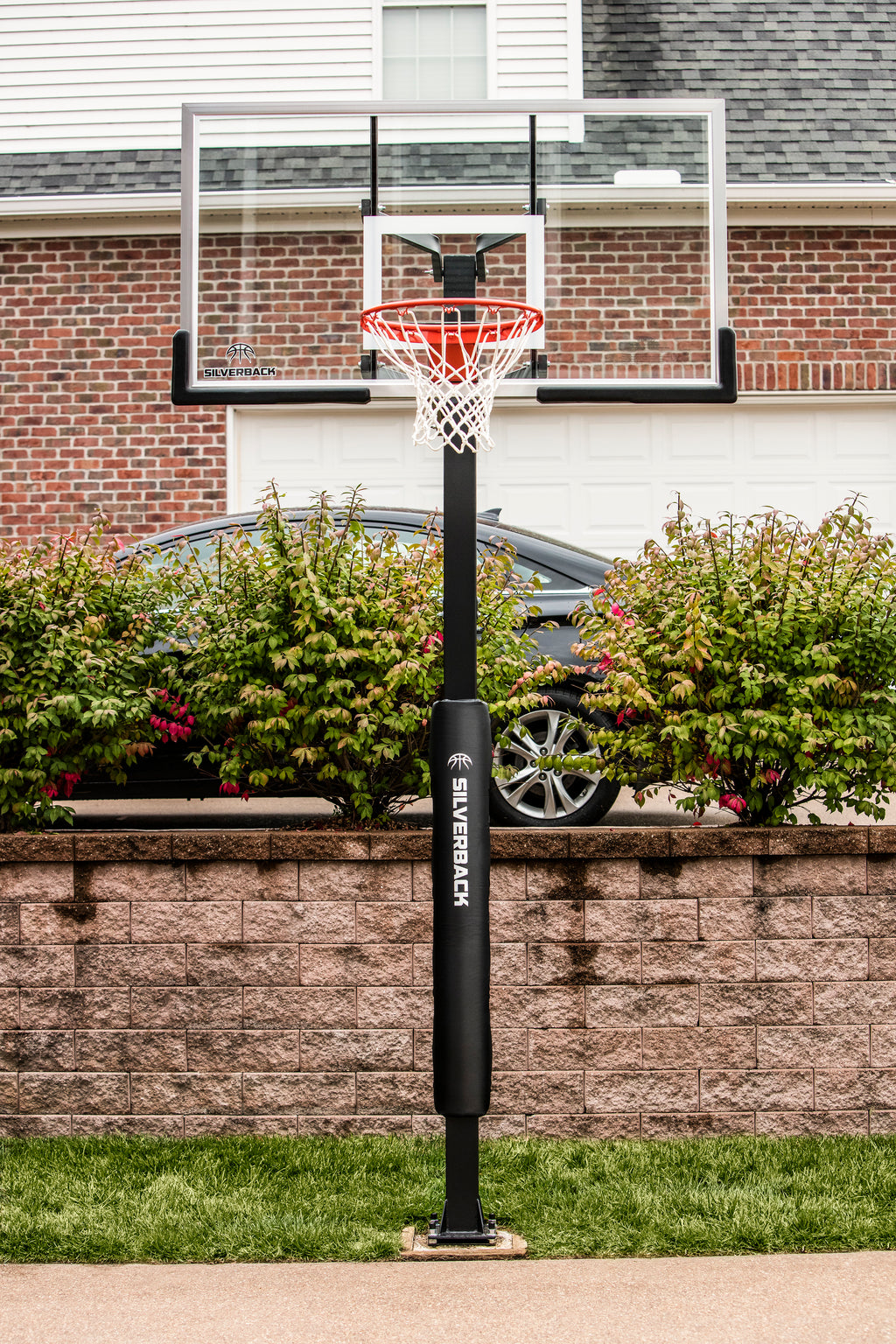 Silverback 60 In-Ground Basketball Hoop with Adjustable-Height Tempered Glass Backboard and Pro-Style Breakaway Rim