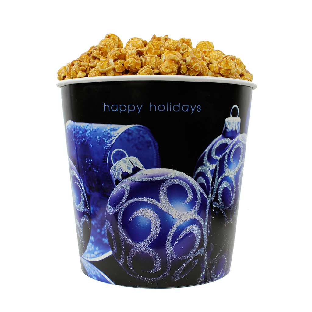 Blue Ornament 1-Gallon Popcorn Bucket