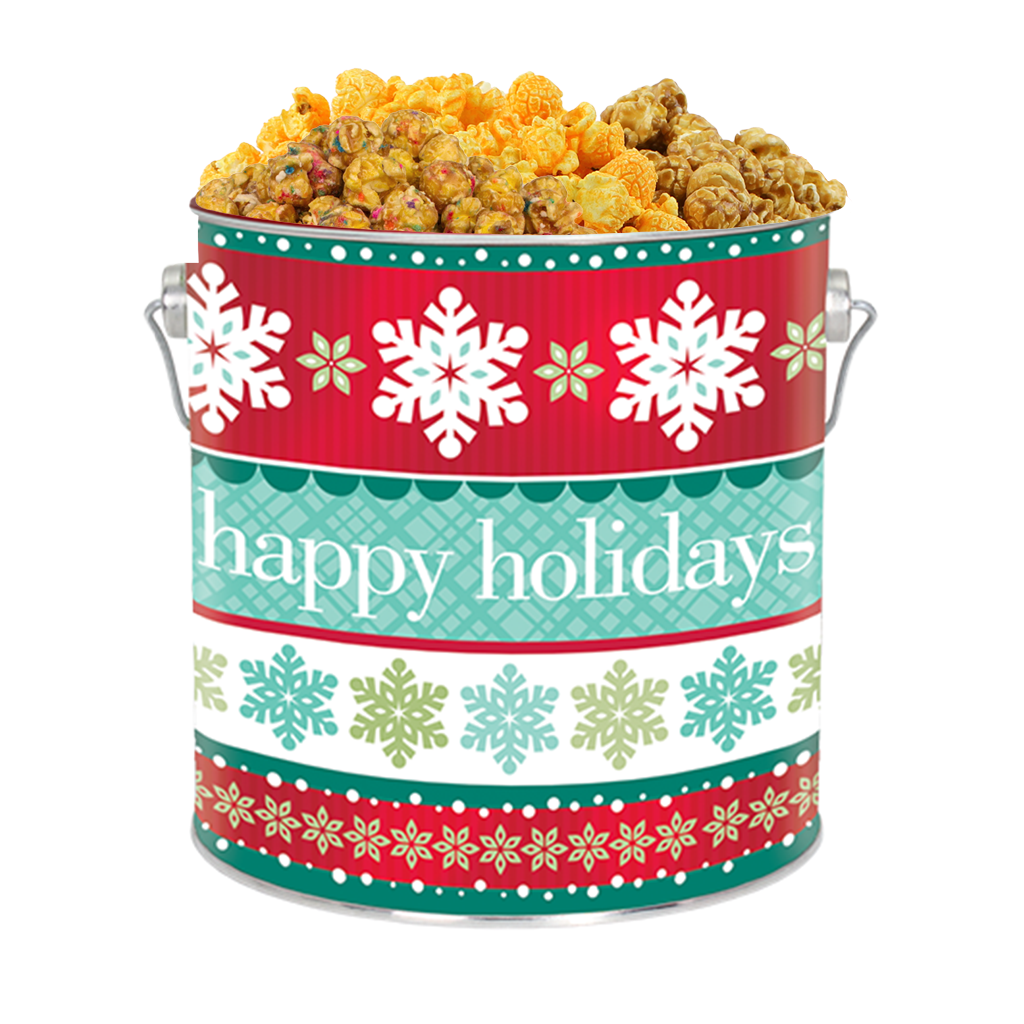 Holiday Cheer 1-Gallon Popcorn Tin