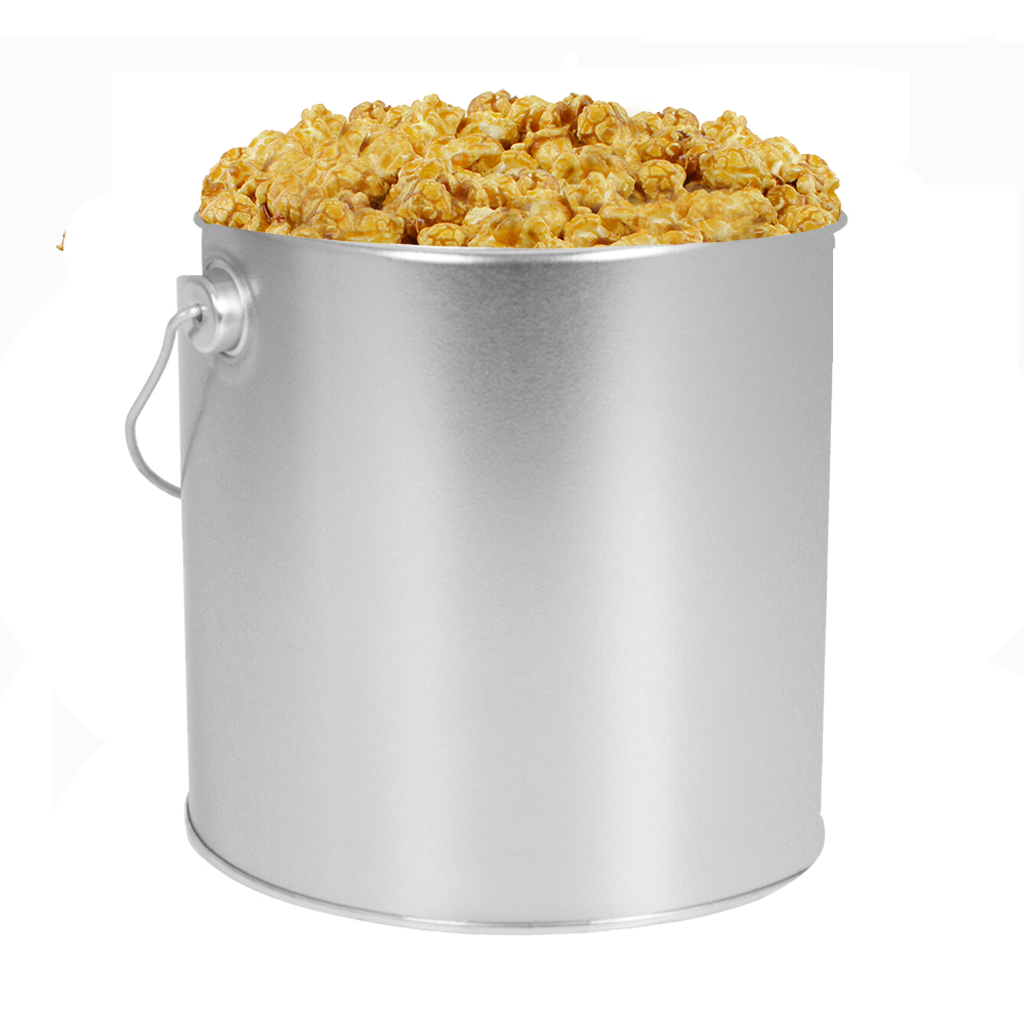 Silver 1-Gallon Popcorn Tin