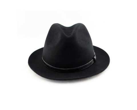 Knotty By Nature Black Fedora Hat