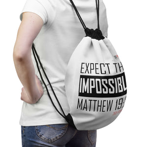 Expect the Impossible Drawstring Bag