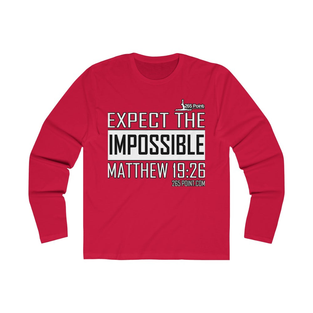 Expect the Impossible Unisex Long Sleeve Tee - Red