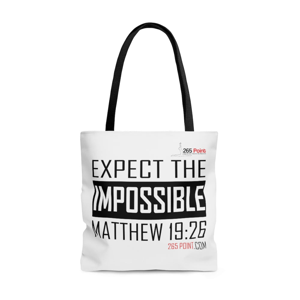 Expect the Impossible Large Tote/Beach Bag