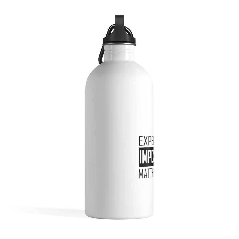Expect the Impossible 14 oz Stainless Steel Water Bottle - White