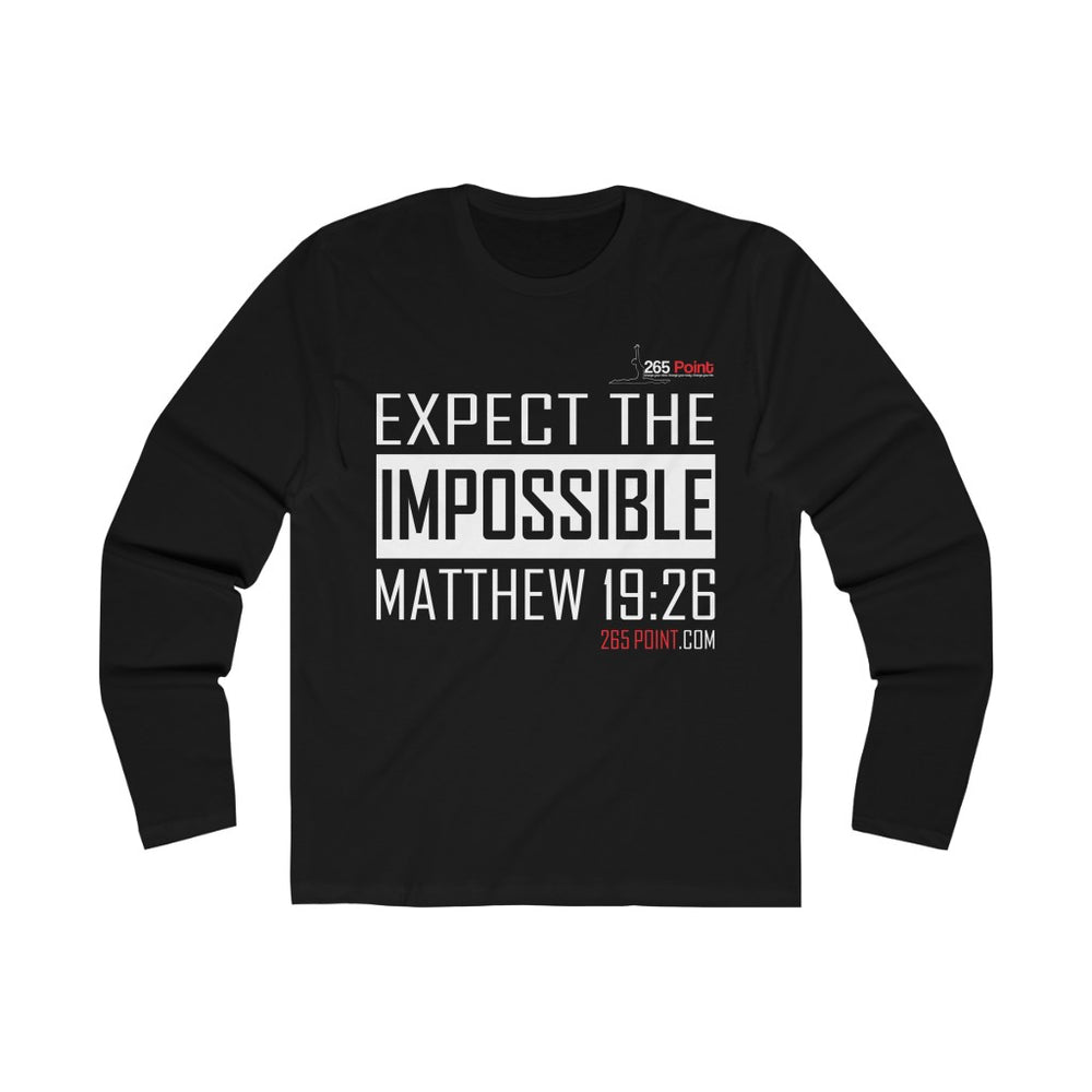 Expect the Impossible Unisex Long Sleeve Tee - Black