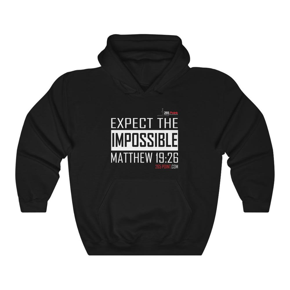 Expect the Impossible Hooded Sweatshirt - Black