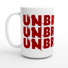Load image into Gallery viewer, Unbroken - White 15oz Ceramic Mug - SCARS Design - Worldwide Product