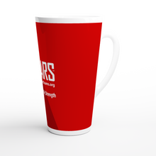 Load image into Gallery viewer, SCARS Full Red - On White Latte-Style 17oz Ceramic Mug - SCARS Design - Worldwide Product