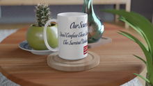 "Load image into Gallery viewer, ""Our Scars Never Disappear"" White 15oz Ceramic Mug - SCARS Design - Worldwide Product"