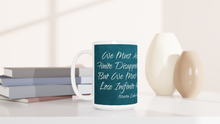 "Load image into Gallery viewer, ""Infinite Hope"" White 15oz Ceramic Mug - SCARS Design - Worldwide Product"