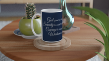 Load image into Gallery viewer, Serenity Prayer - White 15oz Ceramic Mug - SCARS Design - Worldwide Product