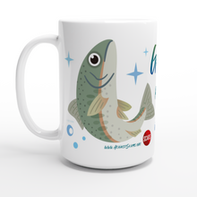 Load image into Gallery viewer, Gone Phishing - SCARS Design - White 15oz Ceramic Mug Worldwide Product