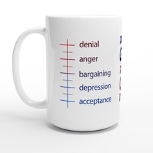 Load image into Gallery viewer, A Mug Of Grief - White 15oz Ceramic Mug - SCARS Design - Wordwide Product