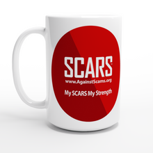 Load image into Gallery viewer, SCARS Trademark White 15oz Ceramic Mug - SCARS Design - Worldwide Product - SCARS Company Store
