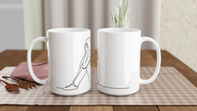 "Load image into Gallery viewer, ""My Sad Day"" White 15oz Ceramic Mug - SCARS Design - Worldwide Product"