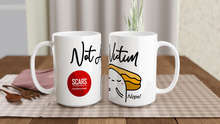 "Load image into Gallery viewer, ""Not A Victim"" White 15oz Ceramic Mug - SCARS Design - Worldwide Product"