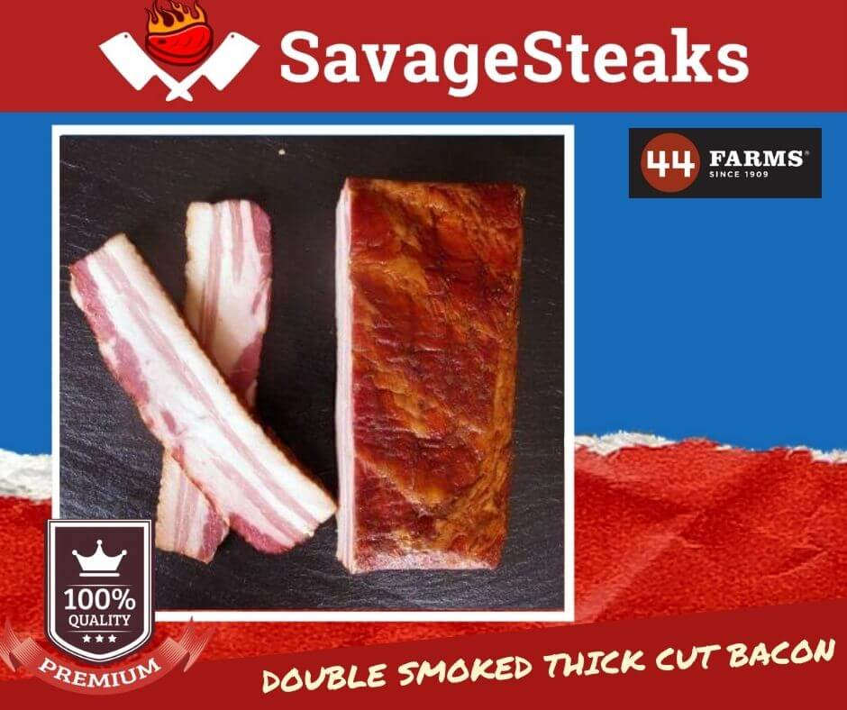 [PRIME] Applewood Double Smoked Thick Cut Bacon, 1-LB