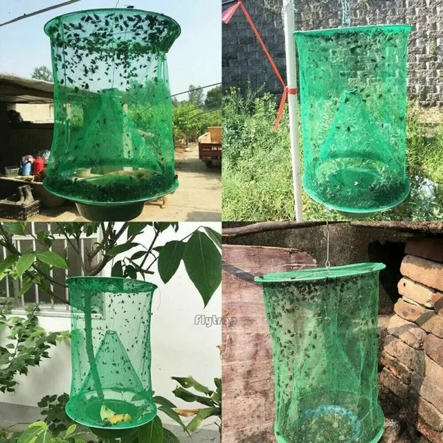 Reusable Fly Trap - The Ranch Outdoor Fly Trap Killer Bug Cage Net Perfect For Horses - Blastiful