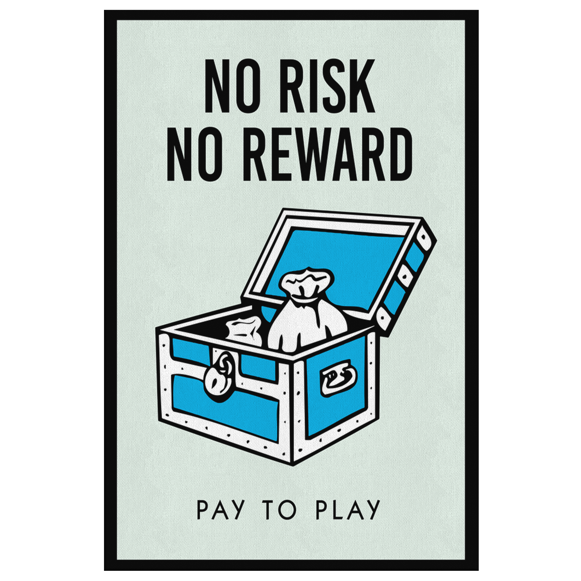 No Risk No Reward Monopoly Office Home Wall Art Painting Canvas - Canvas Wall Art 2 - Blastiful