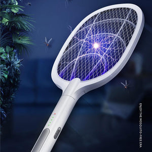 Bug Swatter - 3000V Electric Insect Racket Zapper USB 1200mAh Rechargeable Mosquito Kill Fly Bug Killer Trap - Blastiful