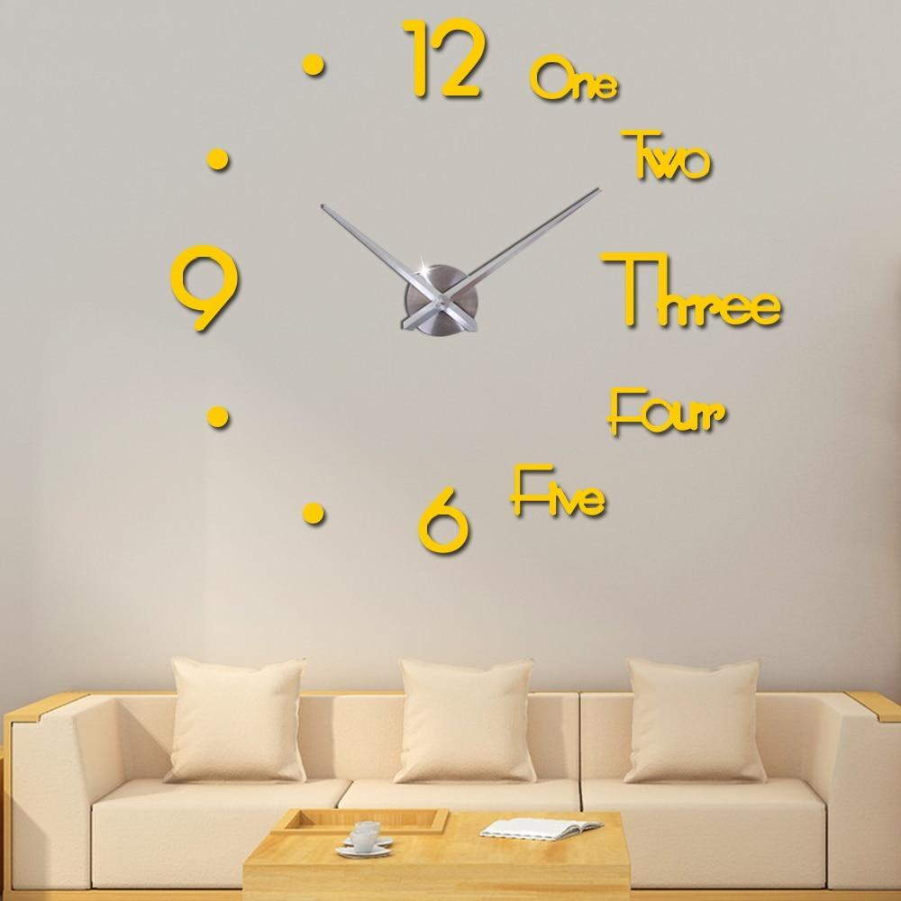 Diy big wall clock modern design(If you want to buy the big size in the video, we recommend 30 inches) - Blastiful