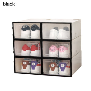 Storage Box & Shoe Box - Transparentdustproof superimposed combination Clamshell organizer - Blastiful