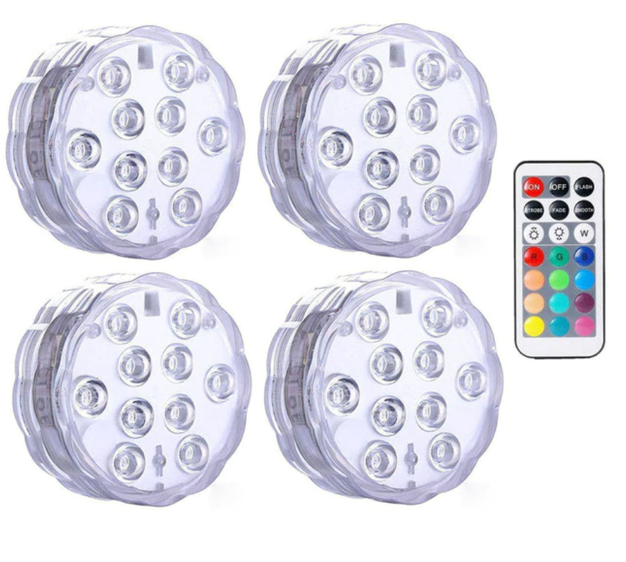 LEDFantasy - Change Any Backyard From 'Meh' To 'Wow' - IP68 Waterproof 16 Color Submersible LED Lights - Blastiful