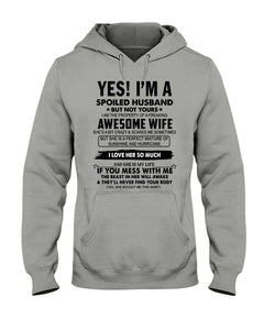 Shirt For Husband - I'm A Spoiled Husband From Awesome Wife Shirt - Apparel - Blastiful