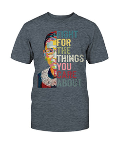 Ruth Bader Ginsburg Fight for the things you care about shirt Damen Hoodie Black Navy - Bekleidung - Blastiful