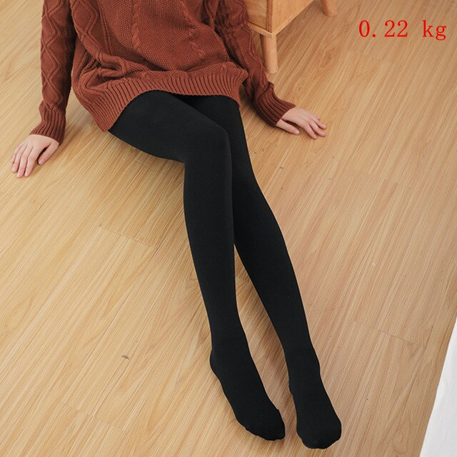 Autumn High Waist Stretch Leggins Women Winter Legging Thick Pants Velvet Knitted Female Warm Sexy Leggings Plus Size Legging