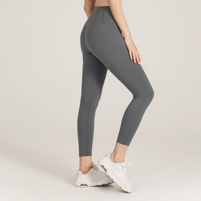 Wmuncc Skinny Yoga Pants Female Solid Color Quick-drying Sports Leggings High Waist Elastic Workout Hip Lifting Fitness Trousers