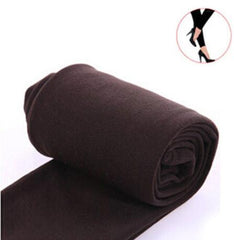 2020 Autumn winter woman thick warm leggings candy color brushed charcoal Stretch Fleece Pants Trample Feet Leggings