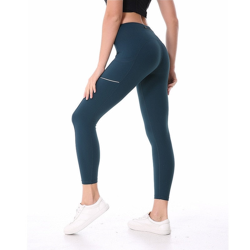 NWT 2020 Women Sports Pant With Reflective  Sexy Hips Sports Pant Running Leggings  Super Quality Stretch Fabric Size us4-us12