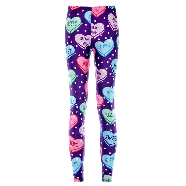 20 styles So Cute !!Dark & cat and Leopard print God Horse Mummy Dog Skull colorful Heart Printed leggings women's sexy Pants