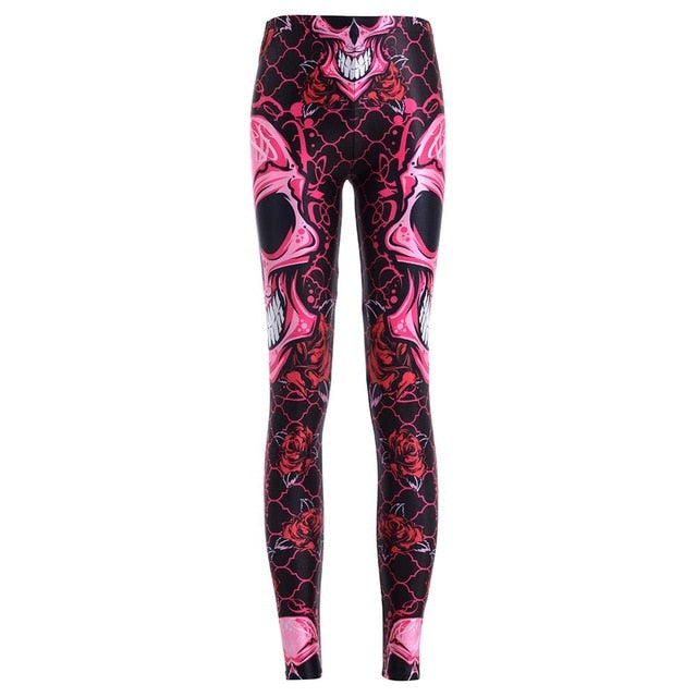 20 styles Women Fashion Legging Skull Head Love Mask Blood Printing leggings Slim High Waist Leggings Woman Sexy Pants