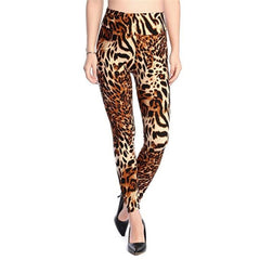 YSDNCHI 2020 Fashion Women Leggings Slim High Waist Elasticity Leggings Leopard Printing leggins Woman Pants Cotton Leggings