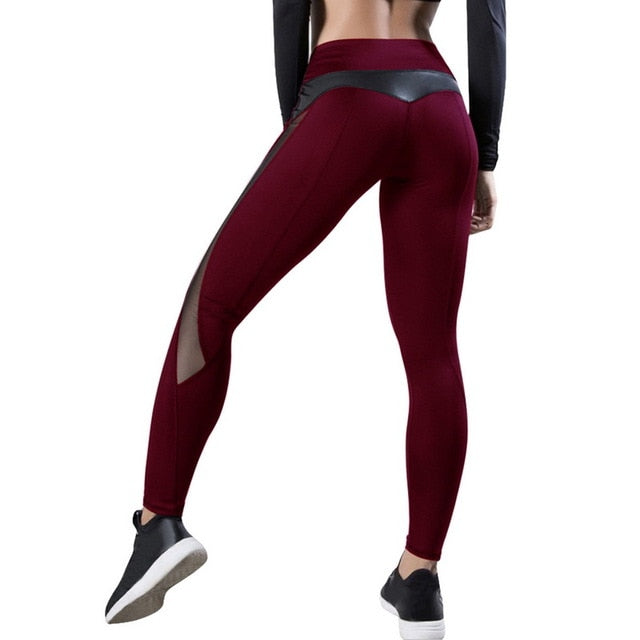 2020 New Women Yoga Pants Push Up Fitness Gym Sports Leggings Running Mesh Yoga Leggins Seamless Training Pants Femme high waist