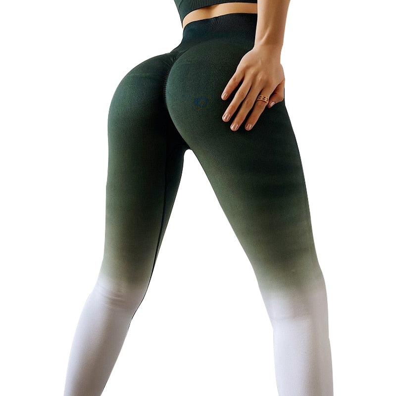 Fitness Sport Seamless Yoga Leggings Compression Tights Slim Gym Active Wear Sports Fitness Control Workout Colorful Pants