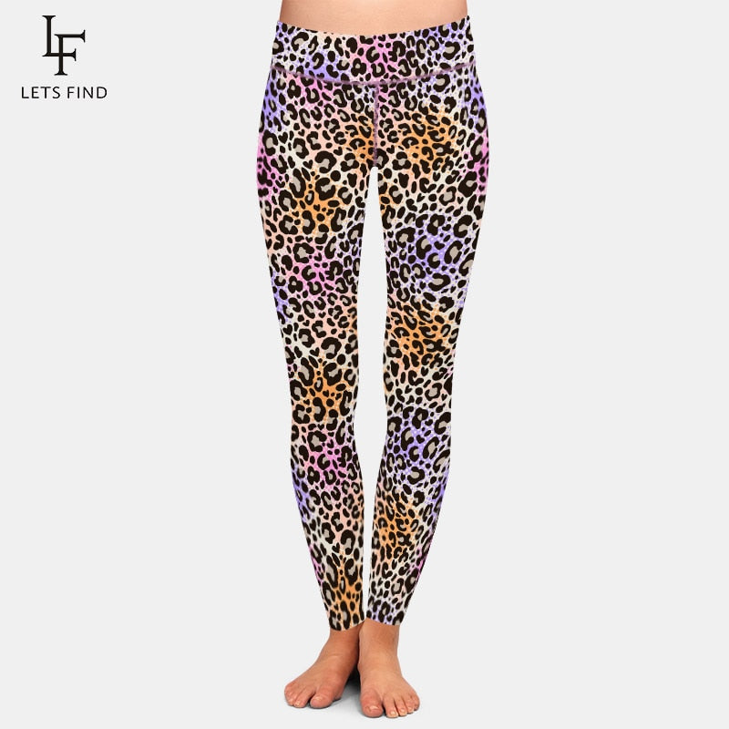 LETSFIND 2020 High Quaility Women Pants 3D Leopard Grain Print Sexy Fitness Leggings High Waist Plus Size Leggings