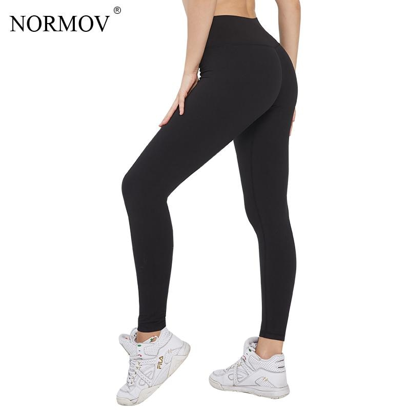 NORMOV Leggings Women Black High Waist Push Up Leggings For Women Gym Fitness Workout Sports Casual Leggins Mujer