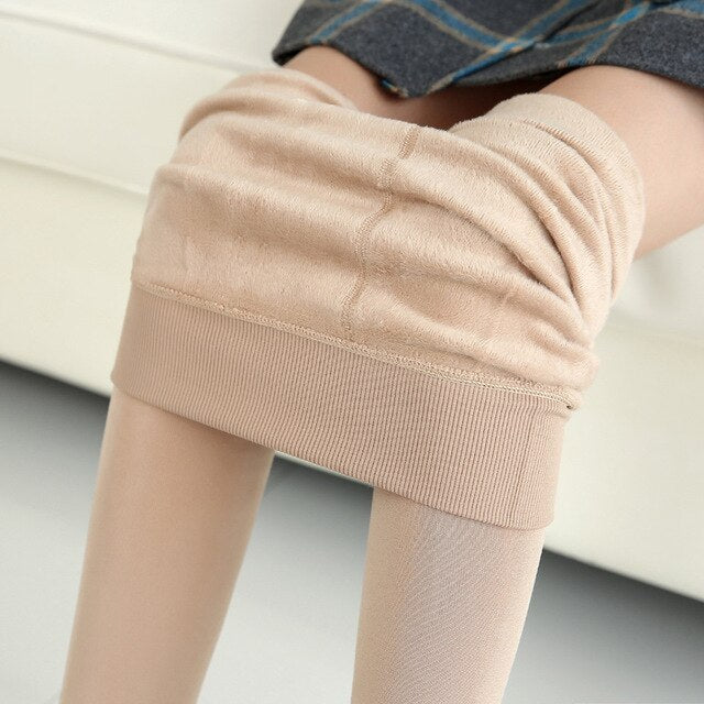 SVOKOR Winter Leggings Knitting Velvet Leggings High Elastic Thicken Warm Pants Skinny Pants For Women Leggins Comfortable