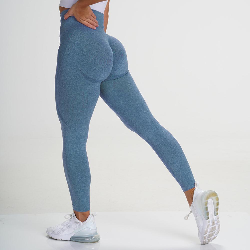 CHRLEISURE Seamless Sports Leggings Women Bubble Butt Gym Legging High Waist Fitness Pants Leggins Dropship
