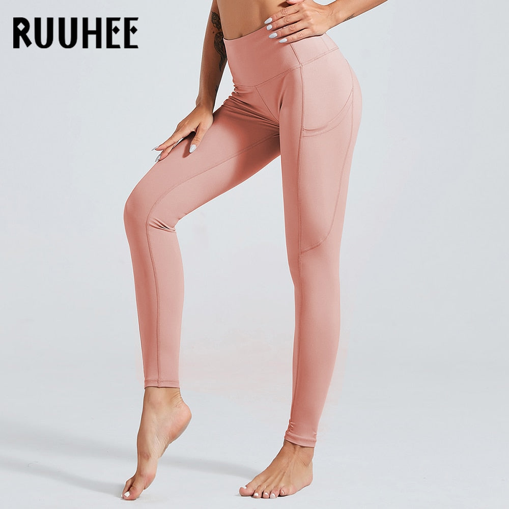 RUUHEE Fitness Leggings Yoga Pants Push Up Women Sexy Yoga Pants Gym Leggings High Waist Sports Pants Workout Running Leggins