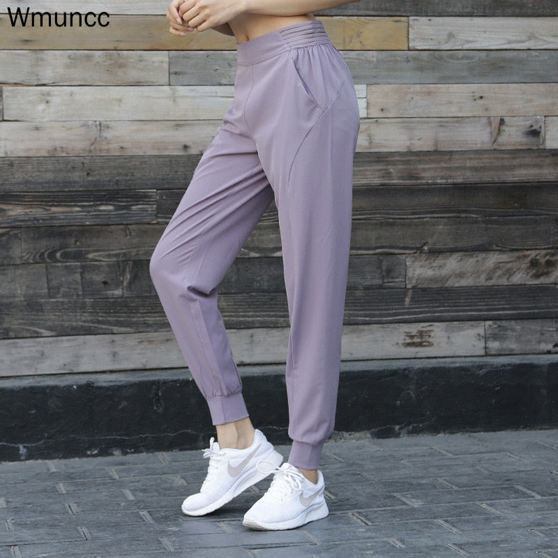 Wmuncc Jogging Pant Loose Breathable Gym Leggings Sports Women Fitness Yoga Pants Stretchy Waist Trousers Running Workout Outdoo