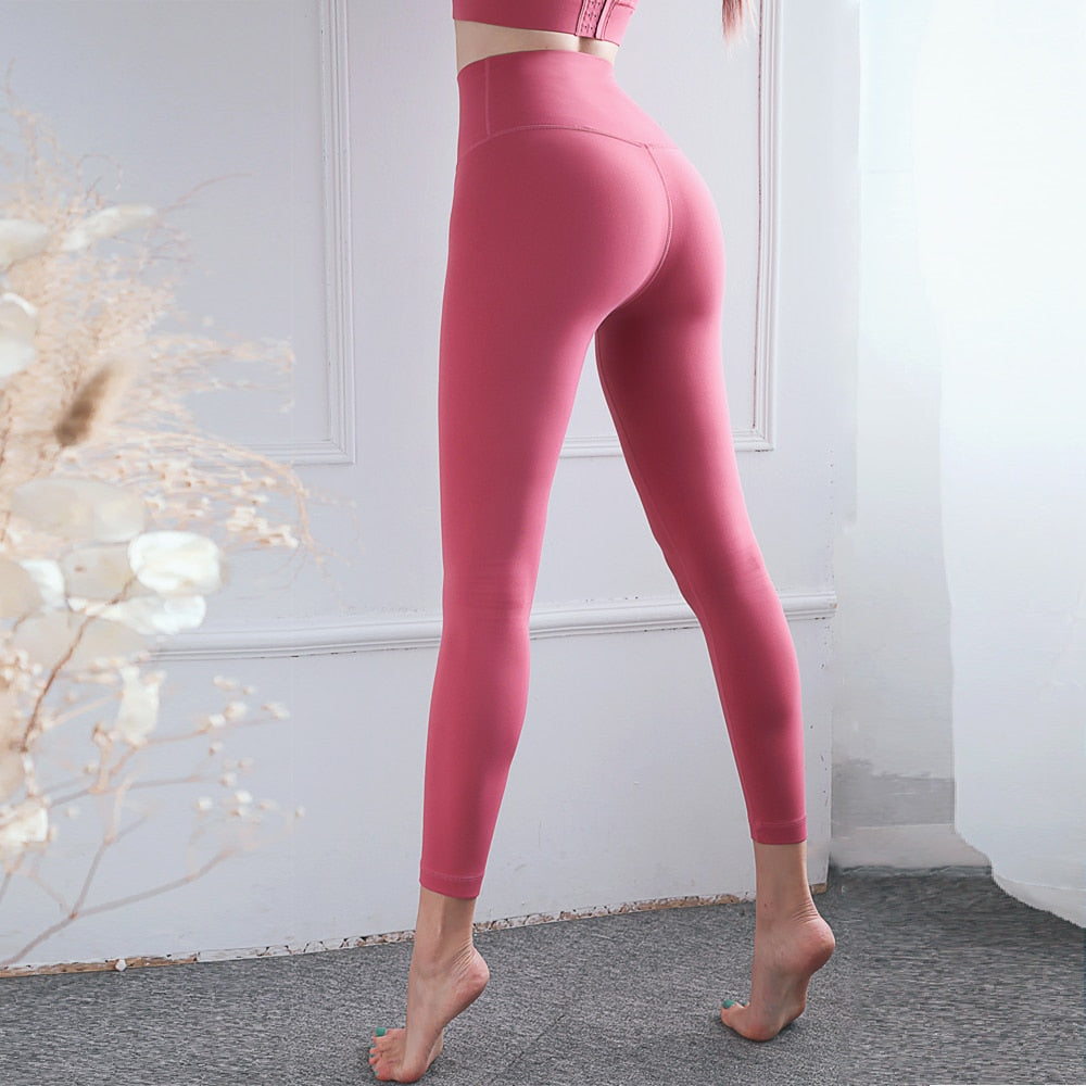 High Waist Stretchy Sports Leggings Yoga Pants Women Fitness Gym Tights Jogging Leggins Push Up Running Workout Trousers