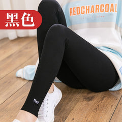 JFUNCY Casual Cotton Leggings Women Spring Fall Fitness Slim Ankle Length Leggings Female Elastic Pants